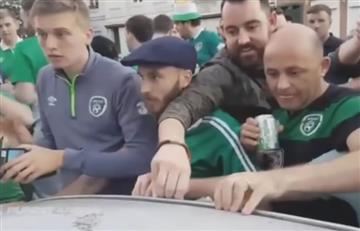 Eurocopa 2016: Irlandeses dejaron dinero en un auto luego de dañarlo