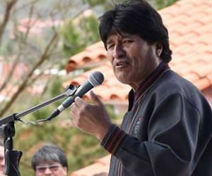 """Morales dice que gracias a la actual democracia """"tenemos una nueva Bolivia"""""""