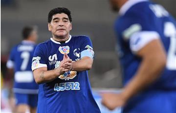 Partido por la paz: Diego Maradona y Verón tuvieron un encontrón