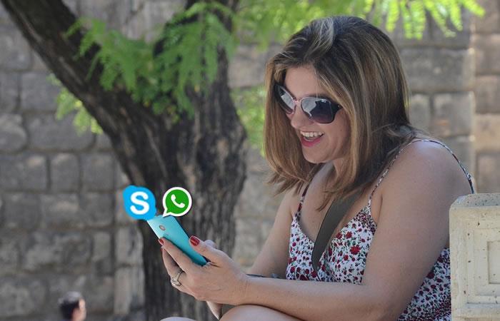 Skype se actualiza tras la amenaza de WhatsApp