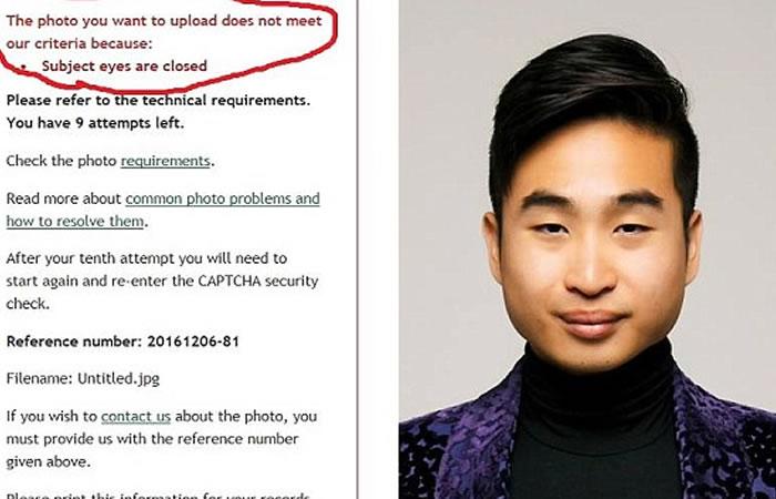 Nueva Zelanda rechaza pasaporte de Richard Lee por sus ojos. Foto:Facebook