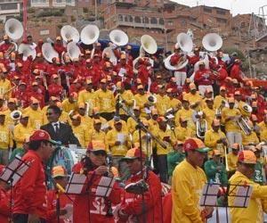 Festival de Bandas en Oruro convoca a preservar la 'Madre Tierra'
