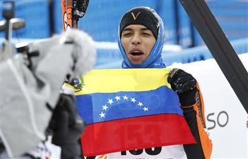 La graciosa actuación del esquiador venezolano que no conocía la nieve