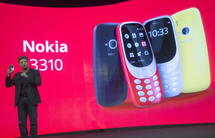 Nokia 3310. Foto:EFE