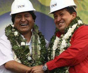 Morales participa en la conmemoración de la muerte de Chávez