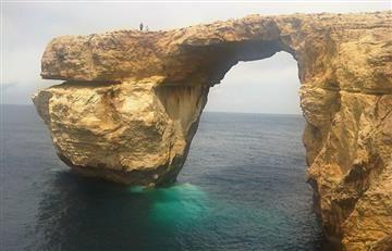 Malta: Por lluvias, colapsa la famosa 'Ventana Azul' en Gozo