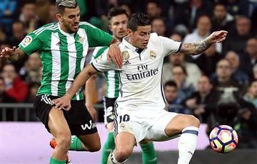 James Rodríguez titular en el triunfo del Real Madrid