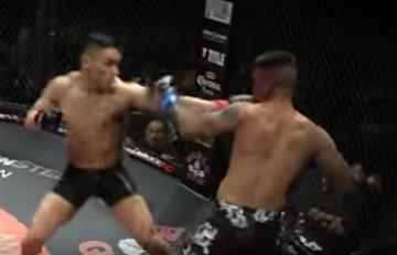 Youtube: Dos luchadores se noquean al mismo tiempo