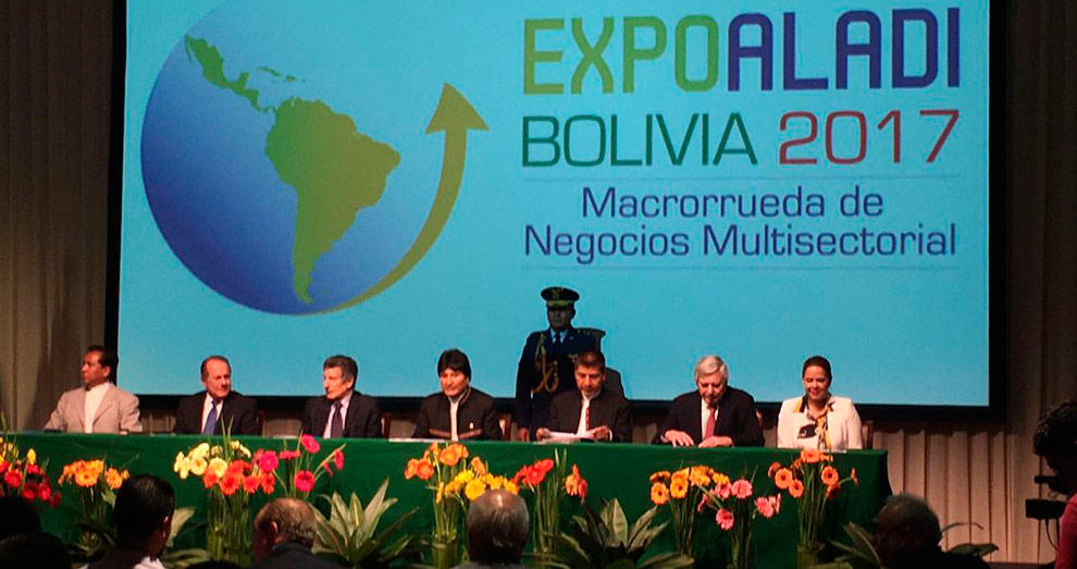 Oficializan realización de la Expo Aladi en Santa Cruz