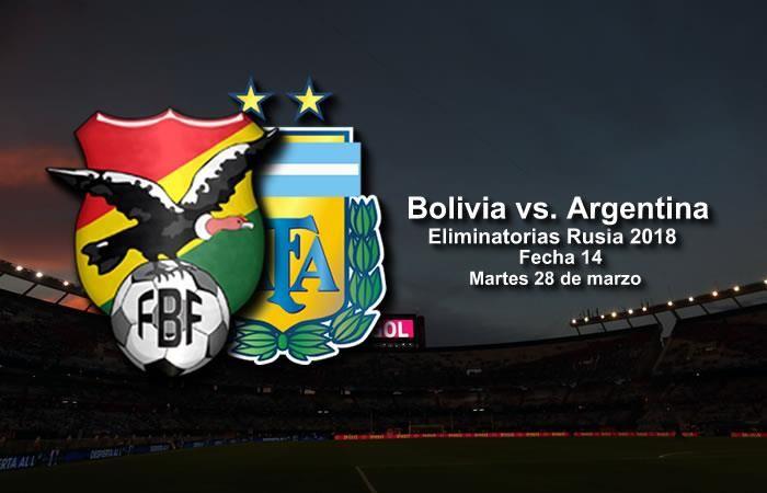 Bolivia vs. Argentina: Transmisión EN VIVO