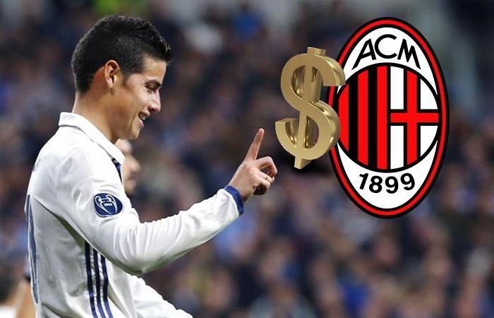 James Rodríguez: Exagerada y millonaria oferta del Milan al Madrid