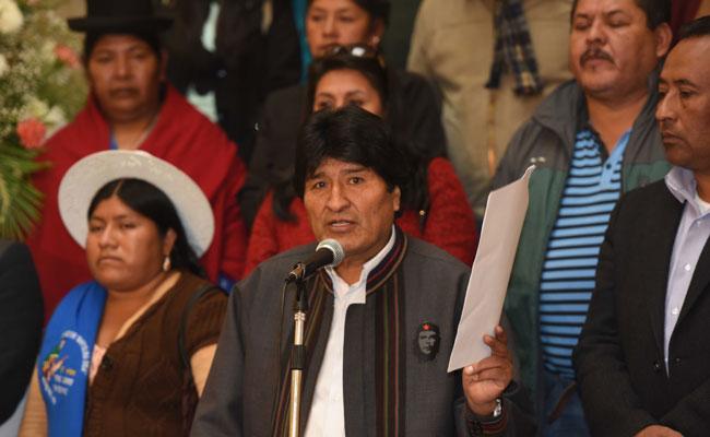 Morales convoca a repudiar las guerras e intervenciones militares