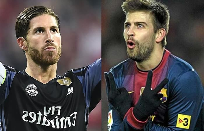 Sergio Ramos le recuerda a Piqué el arbitraje ante el PSG