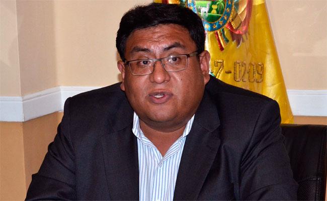 Carlos René Ortuño Yañez, ministro de Medio Ambiente y Agua. ABI