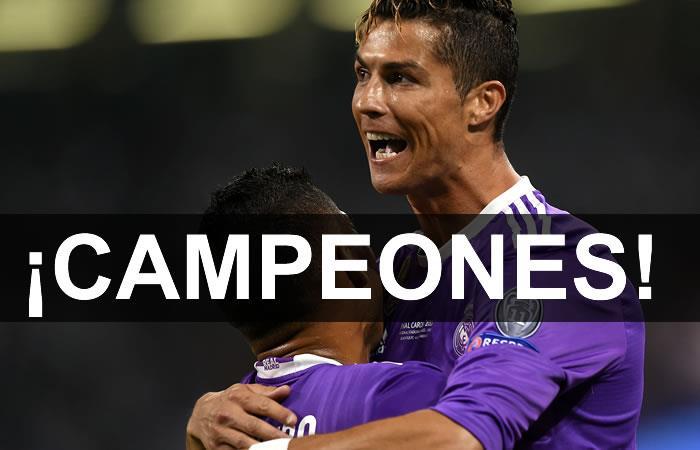 Real Madrid se coronó campeón de la Champions League