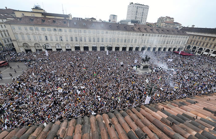 Estampida en Turín deja más de 1.500 heridos