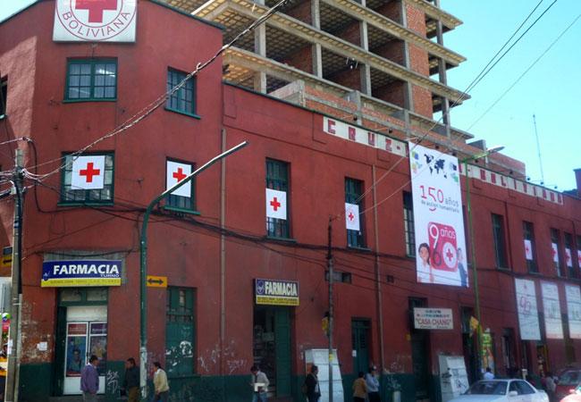 Sede central de la Cruz Roja Boliviana en la ciudad de La Paz. Foto: ABI