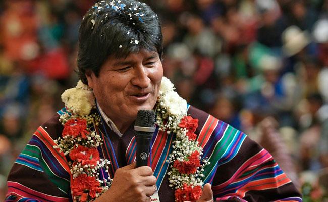 El presidente Evo Morales durante el congreso de la CSUTCB en Potosi. Foto: ABI