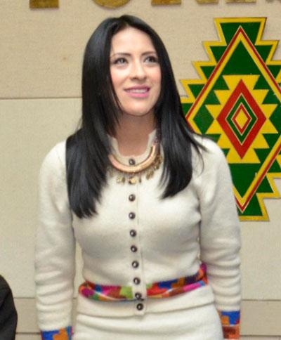 Wilma Alanoca, ministra de Culturas. Foto: ABI