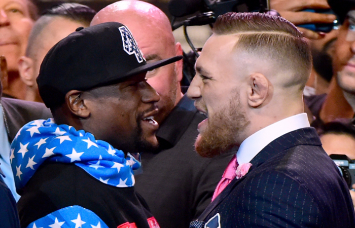 Floyd mayweather vs Conor mcgregor. Foto: AFP