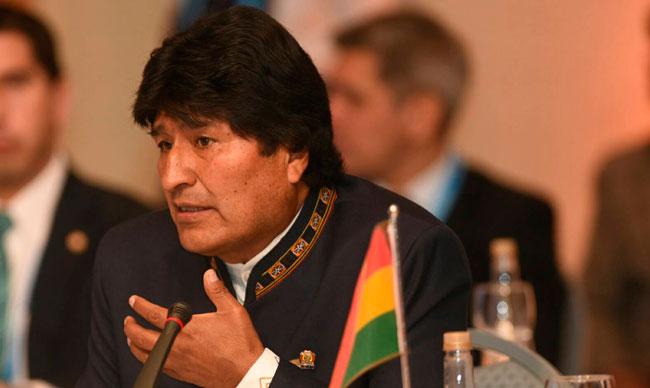 El presidente Evo Morales durante la cumbre del Mercosur. ABI