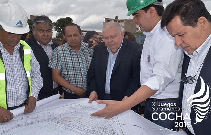 Odesur inspeccionará escenarios deportivos en Cochabamba