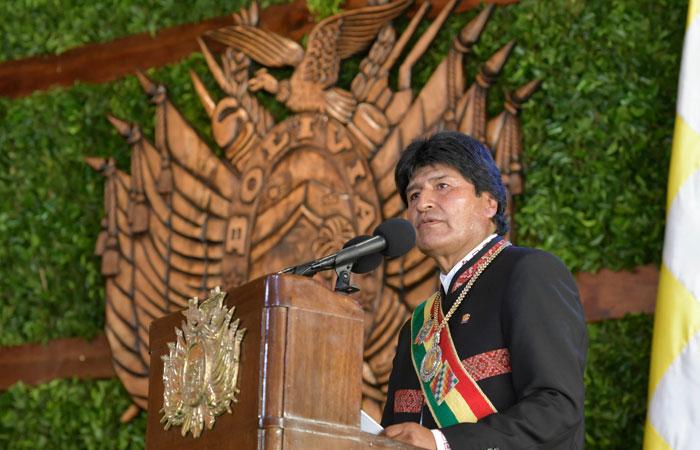 Evo Morales destacó logros de su gestión en su mensaje a Bolivia