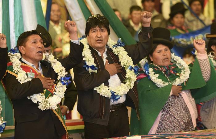 Evo Morales debe reelegirse, según el vicepresidente