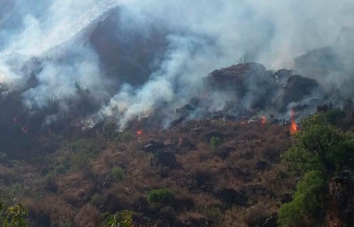 Tarija: Extreman esfuerzos para apagar incendio en Sama
