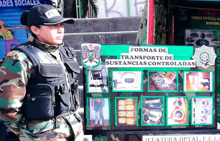 La FELCN realiza operativos constantes en todo el territorio nacional. Foto: ABI