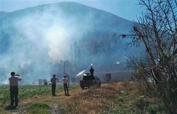Argentina y Perú apoyan para sofocar incendio en Sama