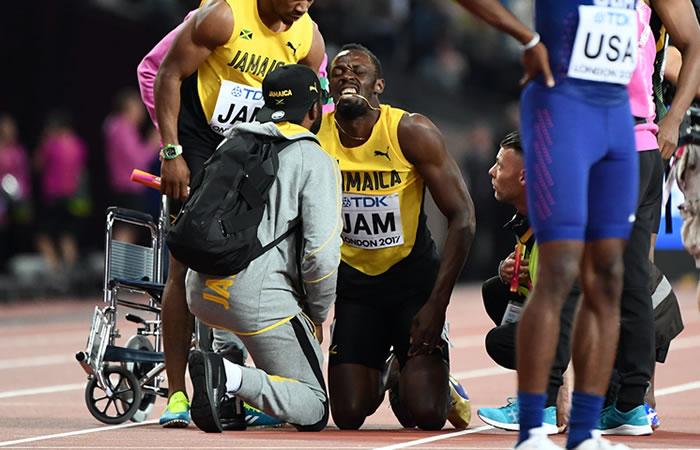 Usain Bolt se lesiona en su última carrera como profesional