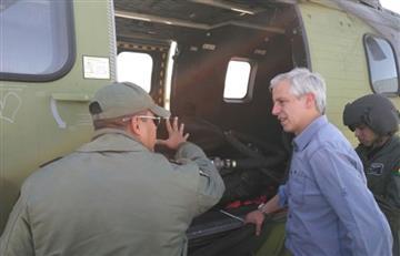Vicepresidente visita zona afectada por incendio en la Cordillera de Sama