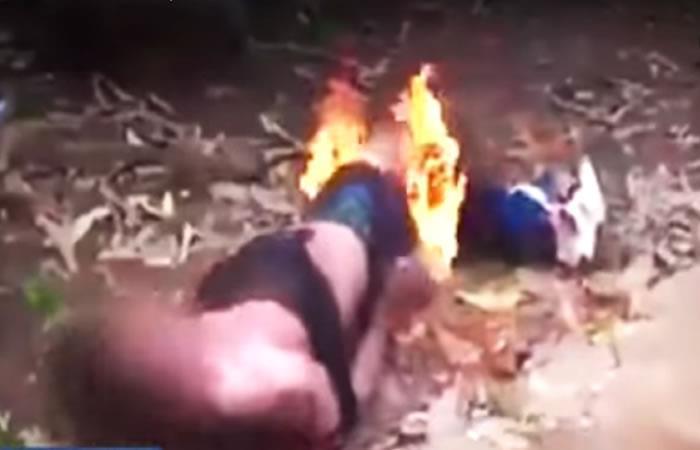 En Guatemala ciudadanos prenden fuego a un presunto violador