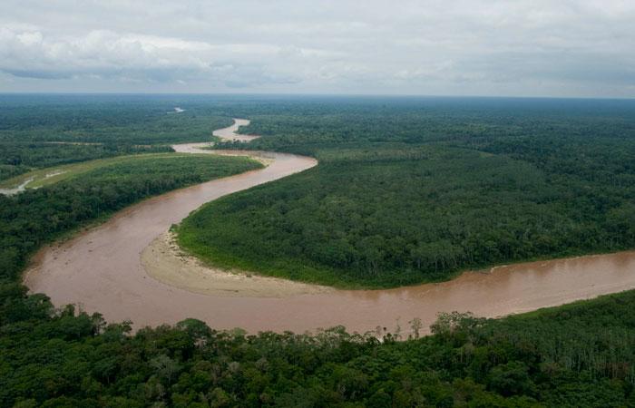 Vista aérea del Territorio Indígena Parque Nacional Isiboro Sécure. Foto. Foto: ABI