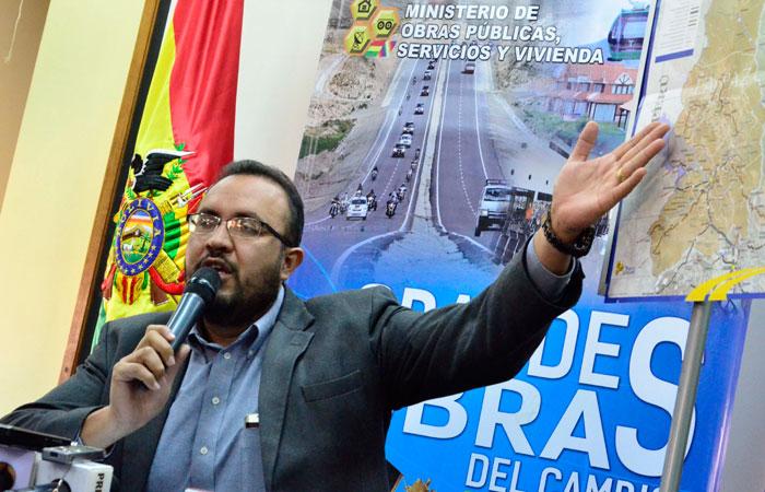 Milton Claros, ministro de Obras Públicas, Servicios y Vivienda. Foto: ABI