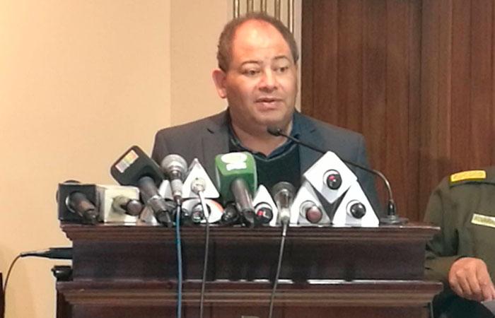 Carlos Romero, ministro de Gobierno. Foto. Foto: ABI
