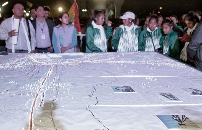 Inauguran obras del primer tren eléctrico metropolitano en Bolivia