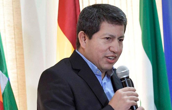 El ministro de Hidrocarburos, Luis Alberto Sánchez. Foto. Foto: ABI
