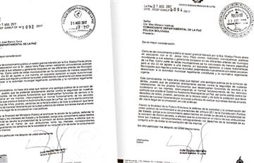 Alcalde de La Paz pide resguardo policial de oficinas ediles