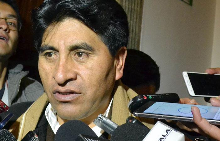 César Cocarico, ministro de Desarrollo Rural y Tierras. Foto: ABI