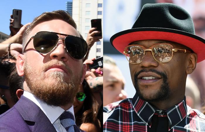 McGregor y Mayweather. Foto: AFP