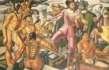 Filtran el 'smartphone' de la época colonial en una antigua pintura