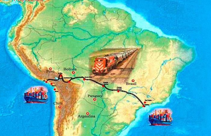Bolivia y Perú analizarán resultados de estudio para tren bioceánico
