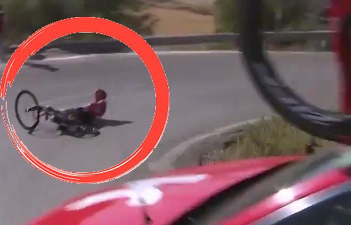 Vuelta a España: Chris Froome perdió el control y sufrió dos caídas