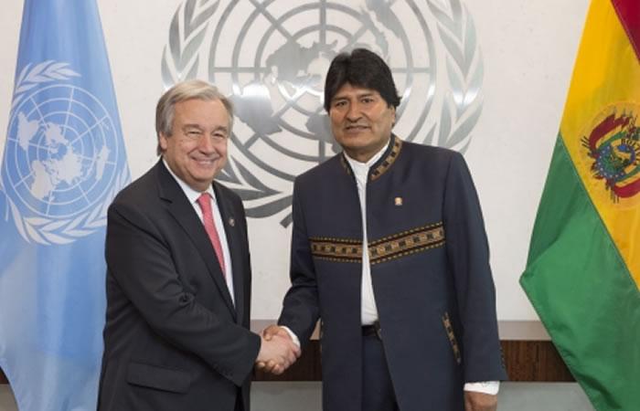 Evo Morales: ¿Se reunirá con Guterres antes de ir a la ONU?
