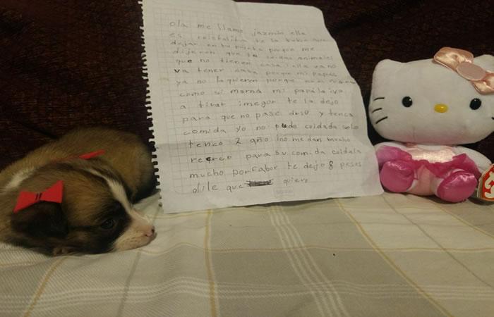 La conmovedora carta de una niña tras abandonar a su perrita