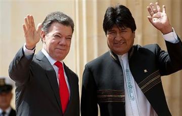 """Evo Morales se solidariza con Santos por """"Chantajes"""" de EEUU"""