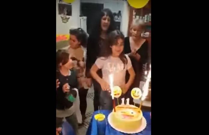 Video: Niña es impactada con llamas al celebrar su cumpleaños
