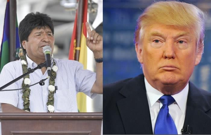 Evo Morales envió fuertes declaraciones a Donald Trump